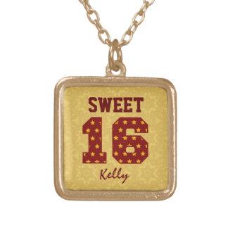 Sweet Sixteen 16 STARS Custom Name V49 Pendant