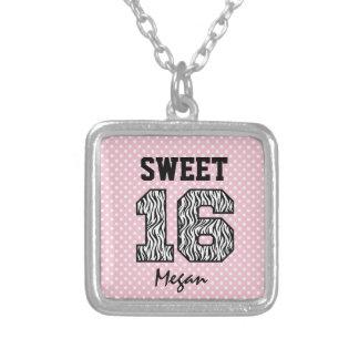 Sweet Sixteen 16 Zebra PINK Polka Dots Custom V06 Custom Jewelry