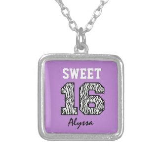 Sweet Sixteen 16 Zebra with PURPLE Custom V16 Necklaces