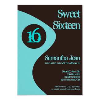 Sweet Sixteen 16th Birthday Party Invitations