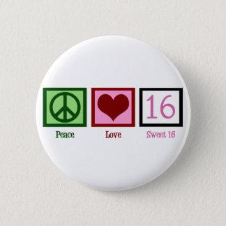 Sweet Sixteen 6 Cm Round Badge