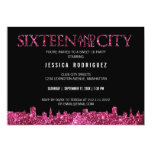 Sweet Sixteen and The City Sweet 16 Birthday Party 13 Cm X 18 Cm Invitation Card