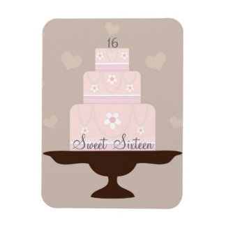 """Sweet Sixteen"" Birthday Flexi Magnet"