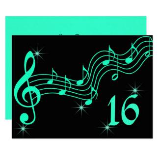 Sweet Sixteen Birthday Invitation Music Notes