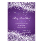 Sweet Sixteen Birthday Party Sparkling Wave Purple 13 Cm X 18 Cm Invitation Card