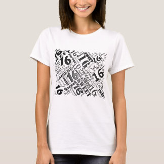 Sweet Sixteen Black&White Birthday Tshirt