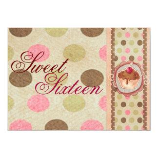 Sweet Sixteen Cupcake Design Birthday Invitation
