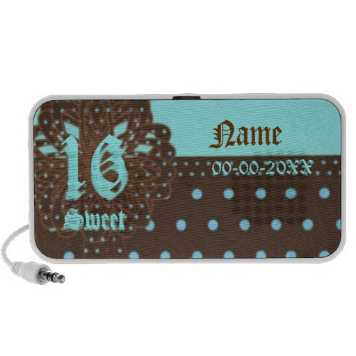 Sweet Sixteen Gifted Doodle Speakers -Customize