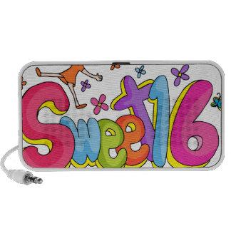 Sweet Sixteen Girl Cartoon Laptop Speaker