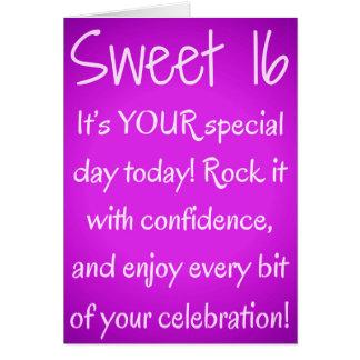 Sweet Sixteen Happy Birthday Card