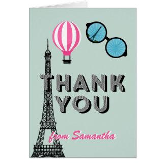 Sweet Sixteen Paris Theme Birthday Thank You Card
