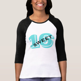 Sweet Sixteen Party 16th Birthday Retro Turquoise T-Shirt