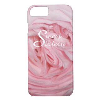 Sweet Sixteen pink rose iPhone 7 case