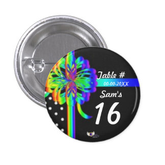 Sweet Sixteen Place Celebration's Button_Cust. 3 Cm Round Badge