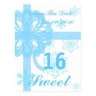 Sweet Sixteen Snowy Princess-Customize Postcard