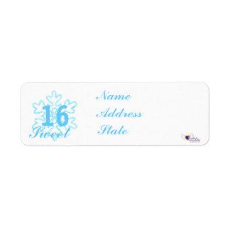 Sweet Sixteen Snowy Princess-Customize Return Address Label