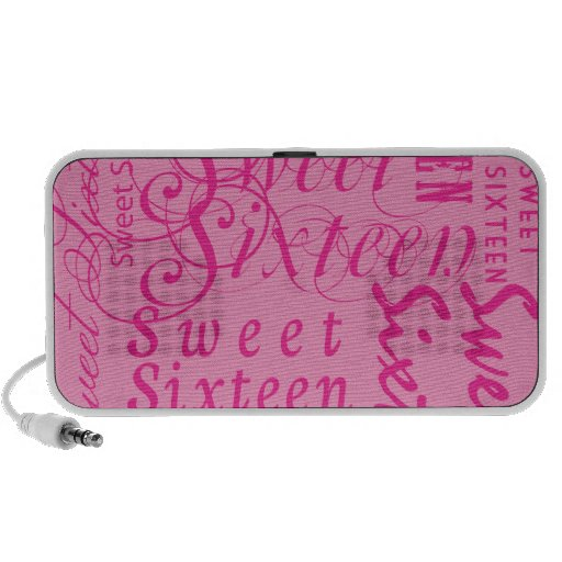 Sweet Sixteen Travelling Speaker