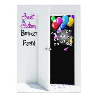 Sweet Sixteen Surprise Party Custom Invitation