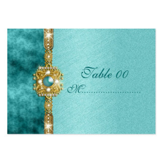 """sweet sixteen"" teal gold 16 birthday business card"