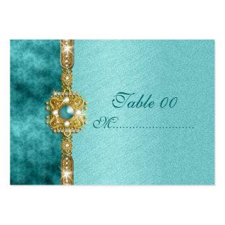 """sweet sixteen"" teal gold 16 birthday business card"