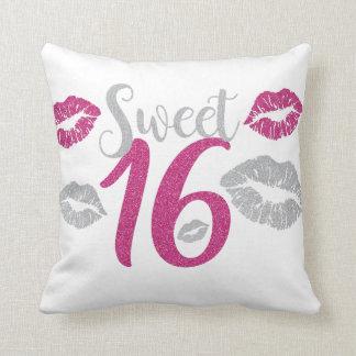 sweet-sixteen throw pillow