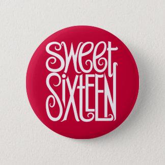 Sweet Sixteen white Button