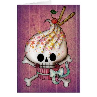 Sweet Skull Cupcake Greeting Card