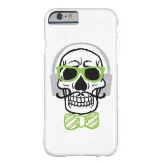 Sweet Skull with Headphones Barely There iPhone 6 Case