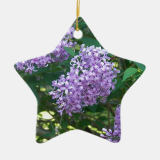 Sweet Smelling Lilacs Ceramic Ornament