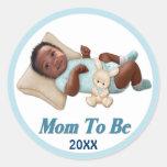 Sweet Smiles - Mum To Be Round Sticker