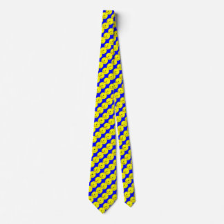 Sweet Smiley Emoji,  Yellow Blue, Art By Kids :) Tie