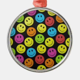 Sweet Smiley Face Metal Ornament