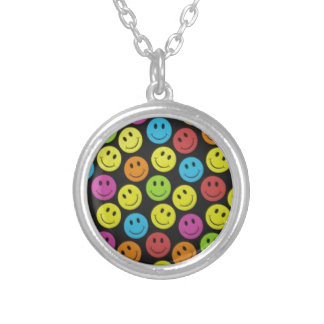 Sweet Smiley Face Silver Plated Necklace