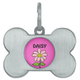 Sweet Smiling Daisy Pet Tag