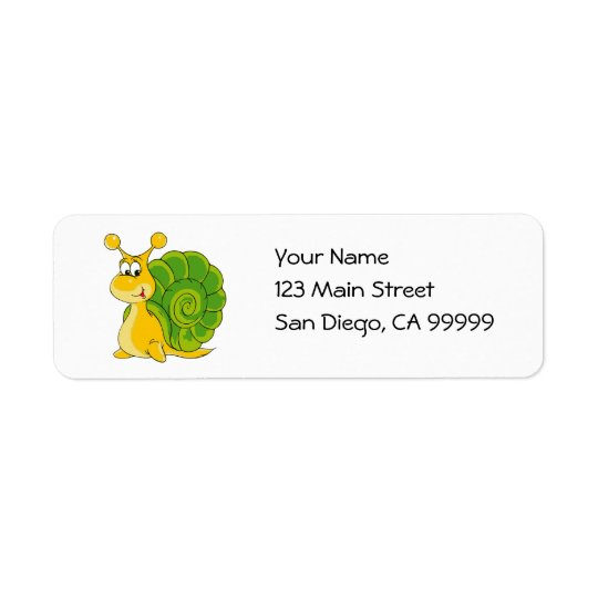 Sweet Smiling Snail Return Address Label