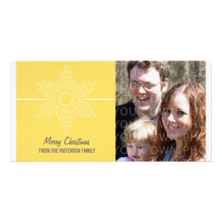 Sweet Snowflake Holiday Photo Card, Yellow