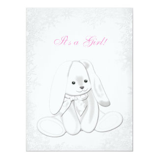 "Sweet Snowflake Winter Wonderland Baby Shower 6.5"" X 8.75"" Invitation Card"