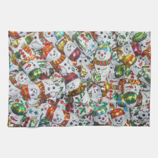 Sweet Snowmen kitchen towel