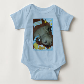 Sweet Snuggle Puggle Dreams Baby Bodysuit