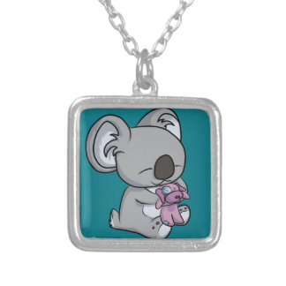 Sweet Snuggles! Koala Silver Plated Necklace