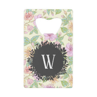 Sweet Soft Colored Spring Flowers with Monogram