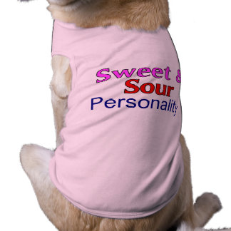 Sweet & Sour Personality Funny Dog Apparel Sleeveless Dog Shirt