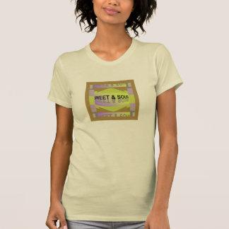 SWEET & SOUR Shirt-Yellow/Lavender/Tan/Creme T-Shirt