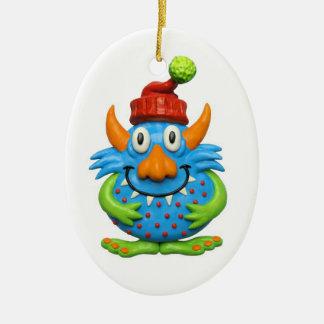 Sweet Spotted Monster ChristmasMonster character m Ceramic Ornament