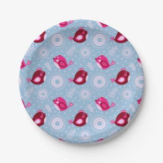 Sweet Spring Birds 7 Inch Paper Plate