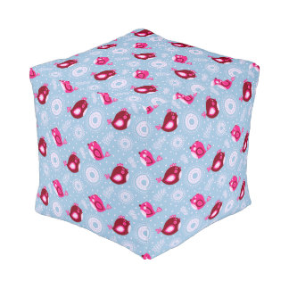 Sweet Spring Birds Pouf