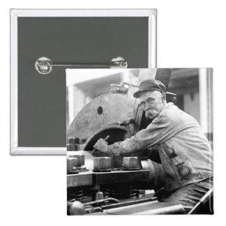 Sweet 'Stache, 1917 Pinback Buttons