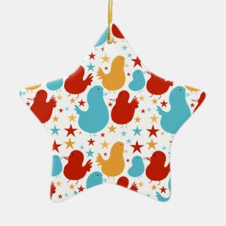 Sweet Star Birds Christmas Ornament (Star)