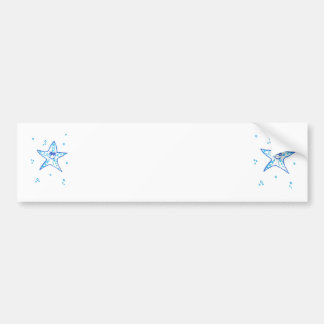 Sweet starfish summer sun sea bumper sticker