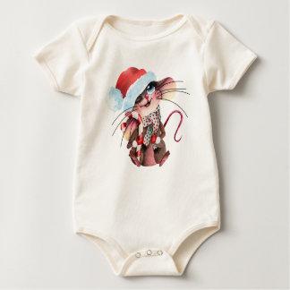 Sweet Strampler for Christmas mice Baby Bodysuit